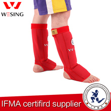 Wesing high protection 100% cotton muay thai shin and instep guard for competition or training,Approved by IFMA 1509A1