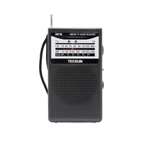Free Shipping TECSUN R-218 AM/FM/TV Sound Pocket Radio Receiver with Built-In Speaker(China)