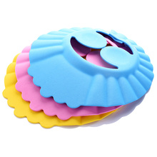 Baby shampoo cap bath Visor shower caps wash hair hat kids bathing infant adjustable Waterproof hats eye Ear Protection Shield(China)