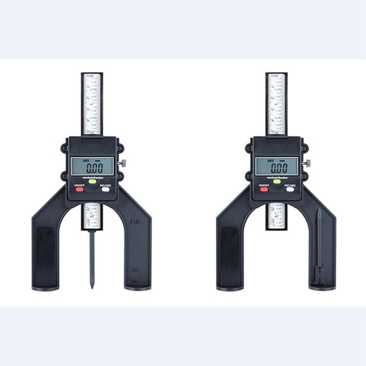 herramientas de medici/ón electr/ónica con base magn/ética de pie para fresadora de carpinter/ía medidor de profundidad Medidor digital de altura de 0 a 150 mm negro