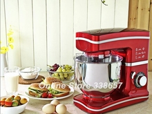 Electric 5.5L 220V 1000W home kitchen cooking food stand mixer, cake dough bread mixer machine(China)