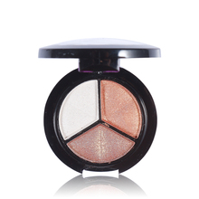 3 Colors Eyeshadow Makeup Palette Good Quality Fine Powder Smoky eyes Metal Naked Nude Eye Shadow Cosmetic brush & mirror