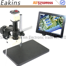 "2MP HD VGA USB Microscope Camera CCD+180X C-mount Lens+56 LED ring Light+Big stand holder+Universal bracket +8"" LCD Display"