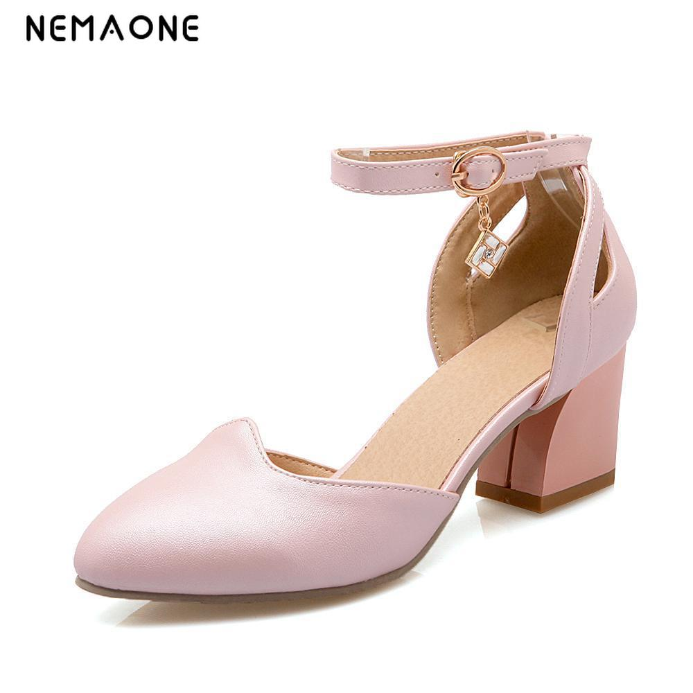 NEMAONE New Fashion Ladies Women Pumps Dress Shoes Sexy High Heel Shoes Womens Wedding Shoes Size 34-43<br>