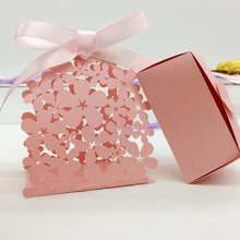 50pcs/set Wedding Favor Box Flower Laser Cut Candy Boxes Party Supplies For Wedding Favors And Gifts Wedding Party Decor