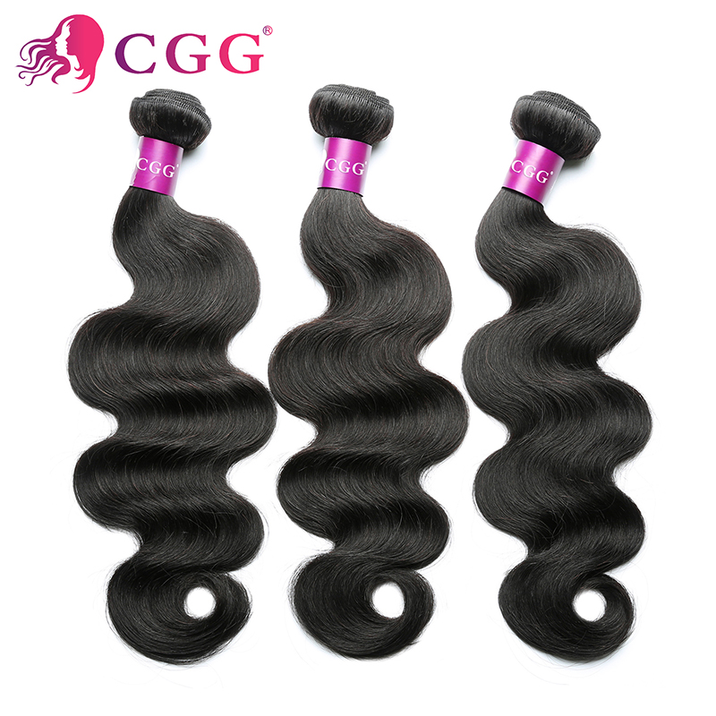 7A Unprocessed virgin hair Indian Virgin hair body wave 3Pcs/Lot Indian body wave 100% Indian wavy virgin human hair extensions<br><br>Aliexpress