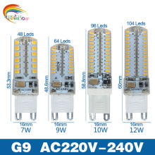 Lowest price LED Bulb SMD 2835 3014 LED G4 G9 LED lamp 3W 7W 9W 10W 12W led Light DC12V AC220V 360 Degree Replace Halogen Lamp