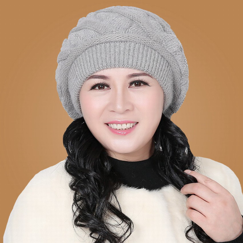 Fashion autumn &amp; winter millinery womens beret hat knitted winter hat quinquagenarian cap new brand rabbit fur female beaniesОдежда и ак�е��уары<br><br><br>Aliexpress