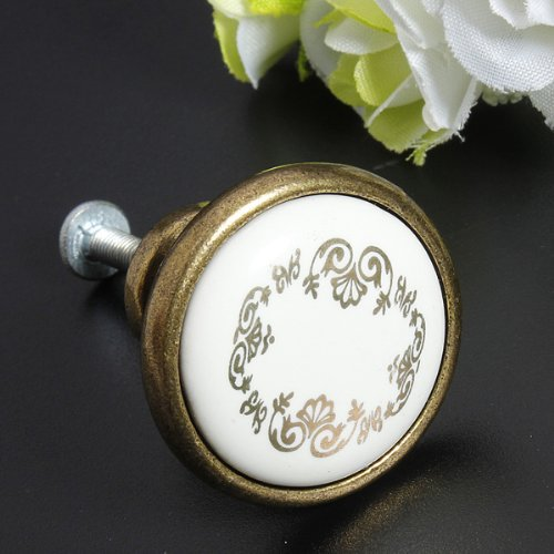 Retro Vintage Ceramic Knobs Cabinets Door Drawer Kitchen Cupboard Pull Handles Wardrobe Porcelain Knob 32mm<br><br>Aliexpress