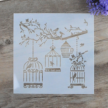 DIY Craft Layering Stencils For Walls Painting Scrapbooking Stamping  Album Decorative Embossing Paper Cards  Birdcage