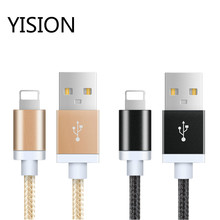 20cm 1m 150cm 2m 3m Ultra Long Metal Briaded Cord Fast Charging 8-PIN USB Data Transfer Sync Cable For iPhone 5S 5 6S 6 7 Plus