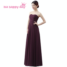 long chiffon made royal blue purple floor length bridesmaid occasion sweetheart a line dress simple style dresses coral B958(China)