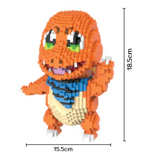 Bevle HC 9021 1657Pcs Pikachu Charmander Cartoon DIY Magic Blocks Diamond Building Block Toys Compatible with Lepin
