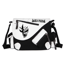 Japan Anime Bleach Death Mask Canvas Casual Zipper Boys Girls Shoulder Bag Crossbody Bags Schoolbags Messenger Bag(China)