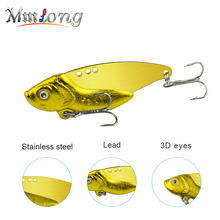 Winter Fishing Lures Crankbaits Metal lead Silver Gold Spoon Bass Baits pike VIB lure Wobblers Fishing Tackle Pesca(China)