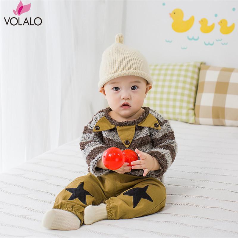 VOLALO Cotton Autumn Baby Boy Girl Clothing Sets Newborn Clothes striped Set For Babies Boy Clothes Suit Long Shirt+Pants 2pcs<br><br>Aliexpress
