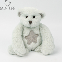 Lovely Bear Plush Dolls Toy Kids Stuffed Animals Soft Toys sweet Star Bear Fluffy Cushion For Baby Birthday/Xmas Gifts(China)