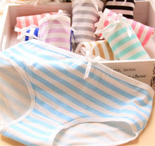 Buy Soft Cotton Briefs Cute Panties 3pc/bag Hot Candy Color Panties Stripes High Quality Lovely Cute Young Girl Underwear Panties