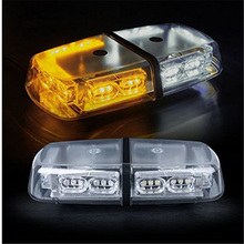 Car Styling 36 LED Strobe Beacon Warning Lightbar/Emergency Ambulance Mini Lightbar/Amber Red Blue Light with High Duty Magnetic