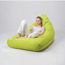 Green outdoor bean bag sofa chair - high quality back supportive lounger sack