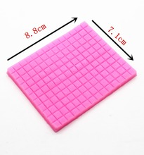 P302 double sugar silicone impression super light soft clay TaoCai clay mold manual biscuits small grid woven texture pad