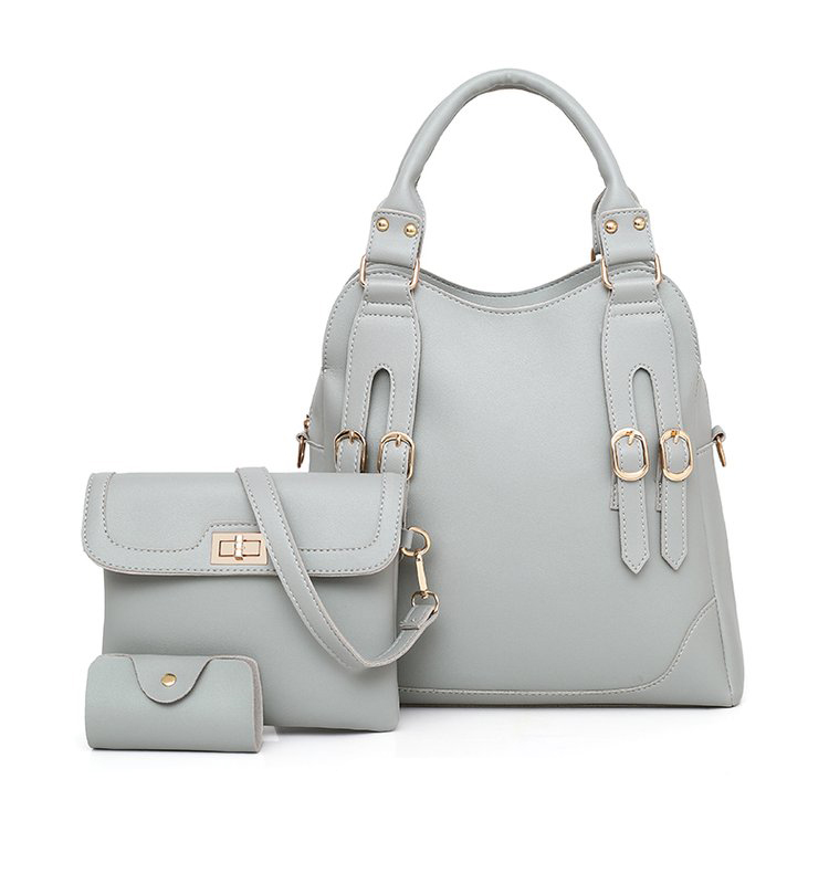 Women Bag PU Leather Female 3 Sets Handbags Women Ladies Shoulder Bags Composite Casual Tote Solid Bag for Women DropShipping 37