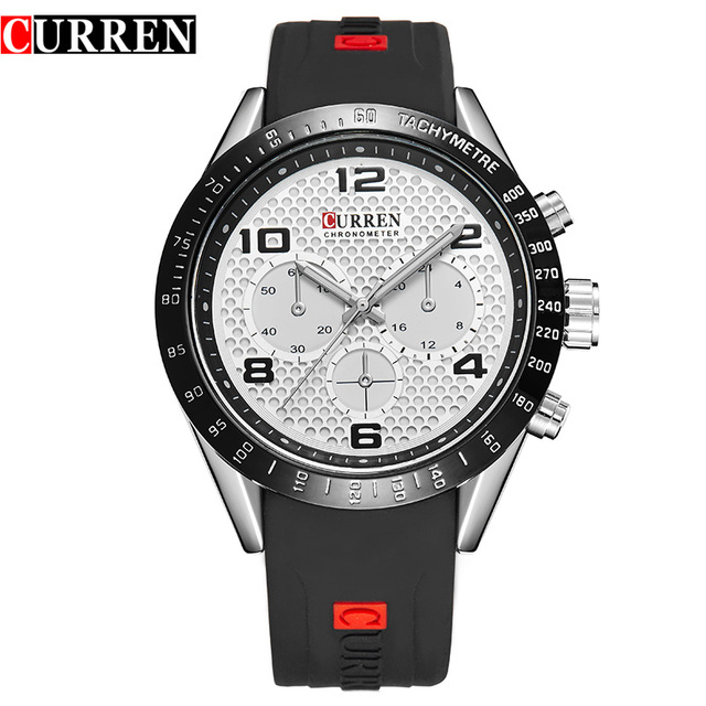 Curren Luxury Brand Genuine Leather Strap Analog Display Date Mens Quartz Watch Casual Watch Men Watches relogio masculino 8167<br><br>Aliexpress