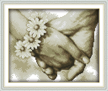 Hand in hand (3) Counted Cross Stitch Diy 11CT 14CT Cross Stitch Set Wholesale Cross-stitch Kits Embroidery Needlework WF362