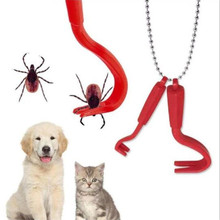 10sets/pack Hook Orange Red Plastic Portable Hook Louse Flea Scratching Remover Horse Human Cat Dog Pet Supply Tick Remover Tool