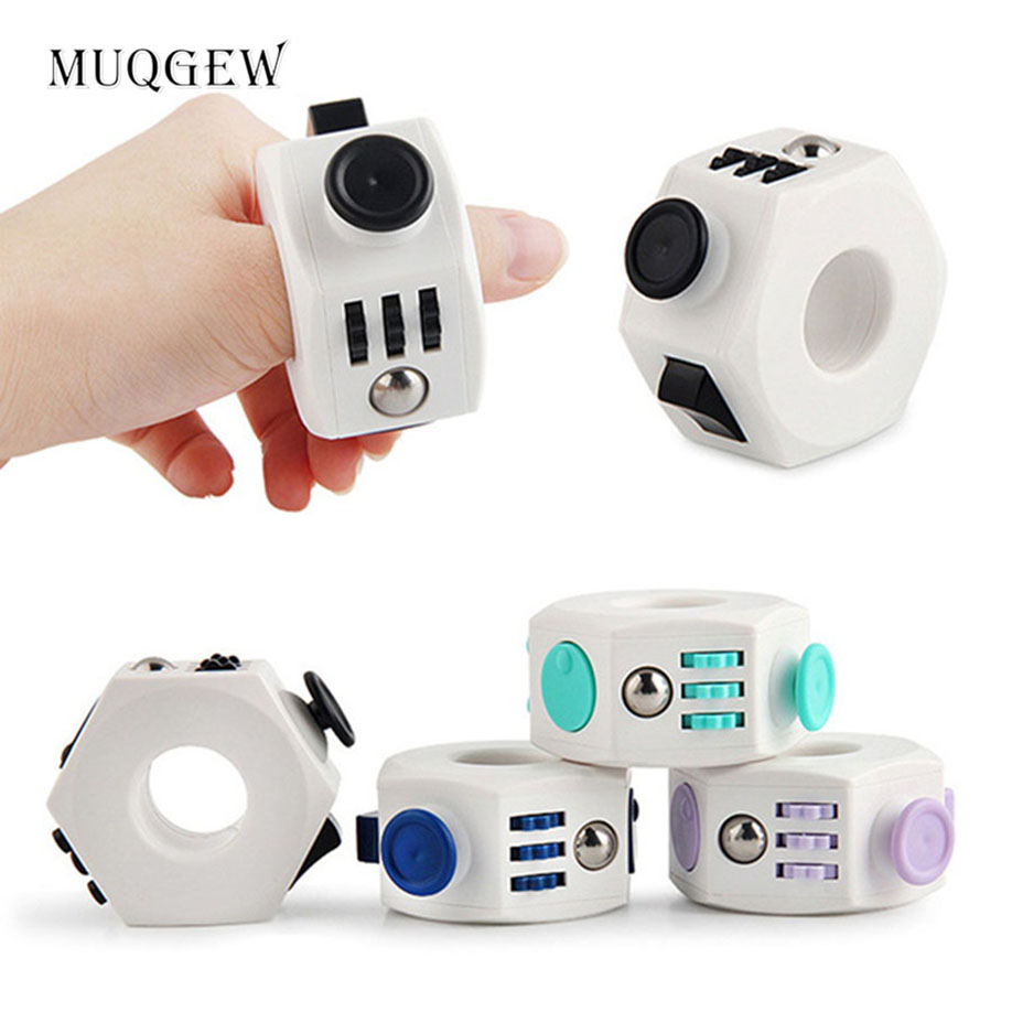 MUQGEW New Arrival Hot Sale Fidget Cube Ring Stress Anxiety Ring Toy Relieves Stress Anxiety Toy Relax Funny Toys Gift