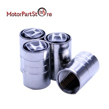4Pcs/Lot Universal Aluminum Car Tyre Air Valve Caps Bicycle Tire Valve Cap Car Wheel Cover Styling Round for Honda *