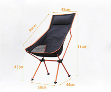Portable Ultralight Collapsible Moon Leisure Camping Chair with Bag for Outdoor Hiking Travel Picnic BBQ Beach Fishing(China)