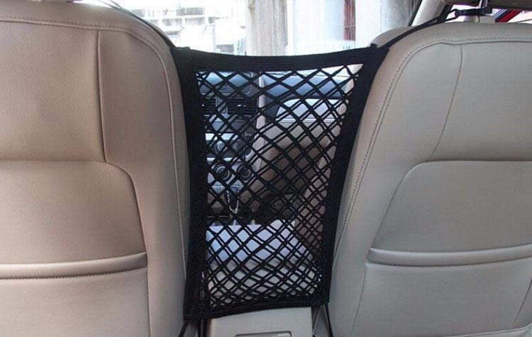 schwarz 73JohnPol Auto Universal Elastic Mesh Net Trunk Bag//Zwischen Auto Organizer Gep/äckhalter Tasche Mit 4 Kunststoffhaken