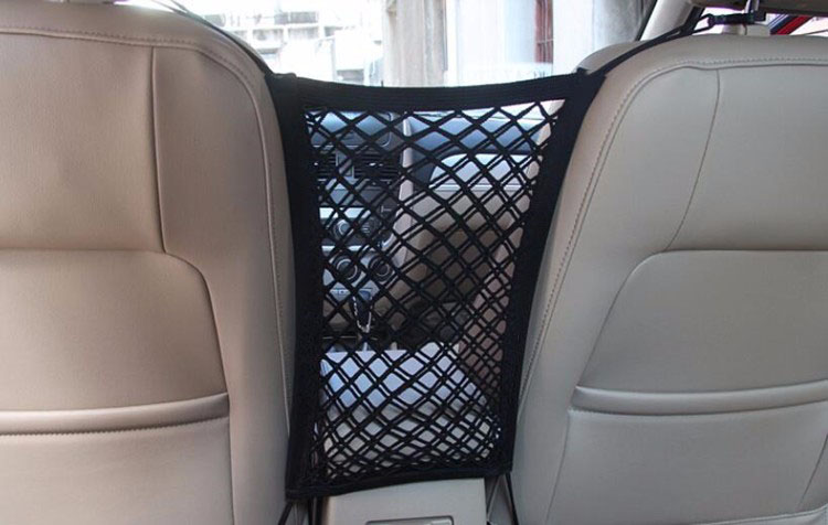 24X25cm Universal Elastic Mesh Net trunk Bag/Between Car organizer Seat Back Storage Mesh Net Bag Luggage Holder Pocket 1