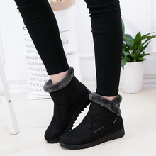 Women Ankle Boots New Fashion Waterproof Wedge Platform Winter Warm Snow Boots Shoes Female Warm Plush Shoes Female