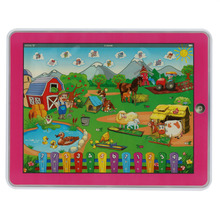 Children's Funny Farm Tablet Toy Y-Pad Touch Screen Pad Learning Machine Computer Laptop Educational Toy for Baby Kids(China)