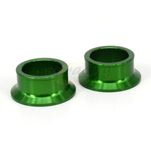 Motorcycle Billet Rear Wheel Hub Spacers For KAWASAKI KX125 KX250 03-08 KXF250 04-14 KXF450 KLX450R Dirt Bike(China)