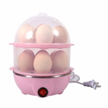 Multi-functional Double-Layer Electric Eggs Boiler Cooker Steamer Home Kitchen Use 220V