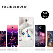 For ZTE Blade A510 Case Luxury Painting Silicone Coque for Zte A510 510 Back Cover for ZTE a510 Patterned Phone Blade A 510 Case