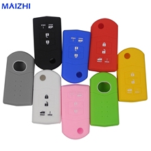 4 Buttons Luminous choice Car Silicone Key Case Fob for Mazda 2 3 5 6 8 Atenza CX5 CX-7 CX-9 MX-5 RX Keyrings Fold Remote(China)
