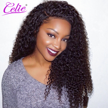 Celie Hair Curly Weave Human Hair 100g/Piece Brazilian Hair Weave Bundles Natural Color Unprocessed Virgin Hair Bundles(China)