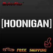 2017 Personality 58cm x 10cm HOONIGAN Car Sticker Window Vinyl Ken Block Decal Lowered Drift JDM Euro For Honda For BMW For VW