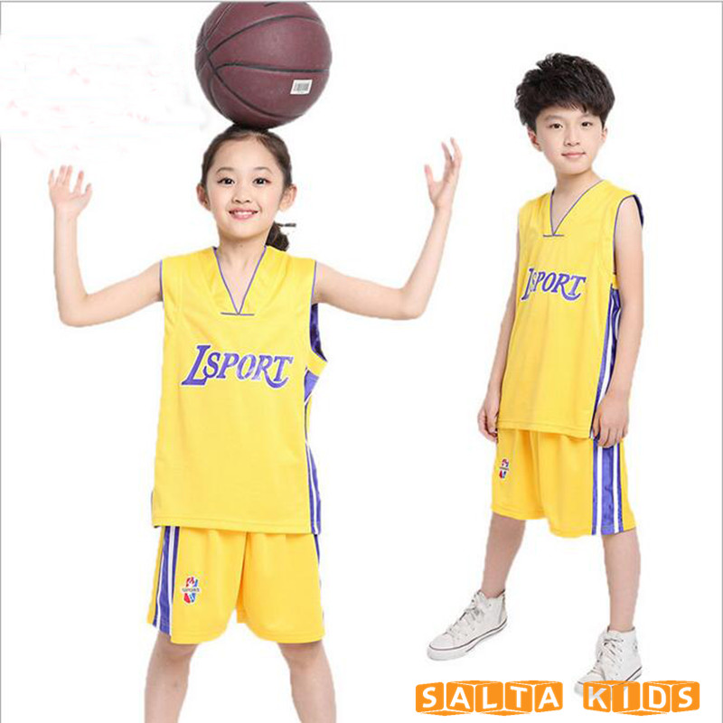 2017 New 5-16T summer kids basketball suit boy girl clothing set sport suit for boys clothes set basketball child clothes  LL263<br><br>Aliexpress