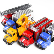 Model Pull Back Car Toys Mini truck Military Truck Fire Truck Engineering Truck Alloy Pull Back Car Toy For Children Boy Gifts(China)