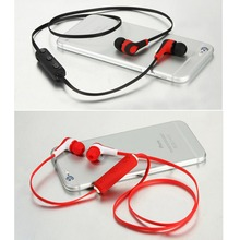 Mini Bluetooth Headset 4.1 Sport Noise Cancelling Microfon in ear Headphone with Volume Control Wireless Ear Hook Earphone(China)
