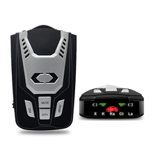 Luturadar Car radar detector 16 full band anti police laser speed gun radar 360 degree radar signal English/Russian language(China)