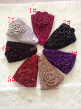 DHL/UPS Woolen Knitted Turban Headband For Women Head Wrap Ear Warmer Wide Hairband Hair Accessories 100 pcs/lot Free shipping(China)