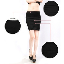 Women Pleated Seamless Stretch Tight Skirt Fashion New High Quality Sexy  Mini Skirt Short Pencil Skirt
