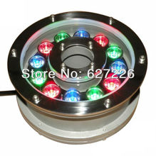 12W RGB Change Color LED Underwater Light DMX512 Control IP68 Waterproof Fountain Lamp Apply Fish Tank Pond Swimming Pool DC 24V