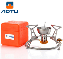 AOTU Lightweight Outdoor Portable Gas Stove Rated Power 3200W Split Furnace Cooker Windproof Picnic Cooking System Camping Gears